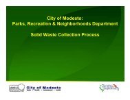 Solid Waste Collection Process - City of Modesto