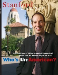 Spring 2004 – Issue 68 - Stanford Lawyer - Stanford University