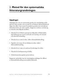 2. Metod för den systematiska litteraturgranskningen - SBU