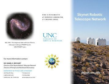 Skynet Robotic Telescope Network - The Department of Physics and ...