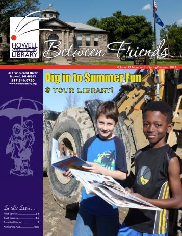 Read our Newsletter - Howell Carnegie District Library