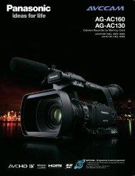 AG-AC160 AG-AC130 - Noleggiotelecamera.it