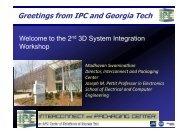 Greetings from IPC and Georgia Tech - Ipc.gatech.edu
