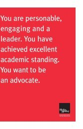 You are personable, engaging and a leader. You ... - Hicks Morley