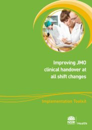 Improving JMO clinical handover at all shift changes - ARCHI