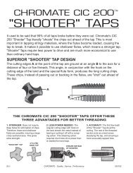 Taps and Dies - Chromate Industrial Corporation