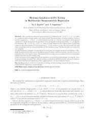 ISSN 1066-5307, Mathematical Methods of Statistics, 2009, Vol. 18 ...