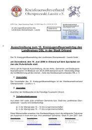 Ausschreibung zum 15. Kreisjugendfeuerwehrtag des ... - KFV-OSL