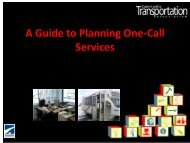 Developing One Stop Call Centers - CalACT