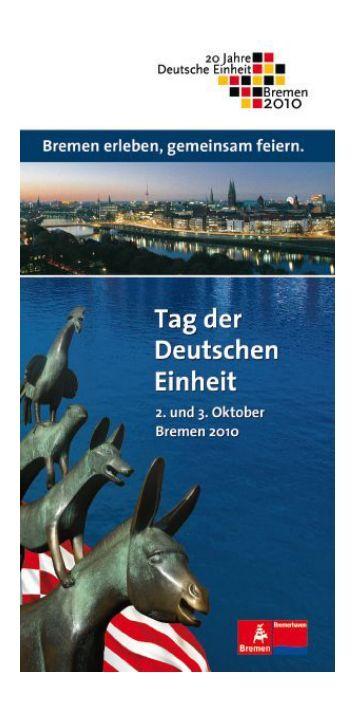 Programmheft (pdf, 7.7 MB) - Senatspressestelle - Bremen