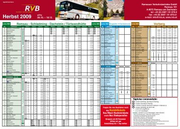 Herbst 2009 - RVB Ramsauer Verkehrsbetriebe