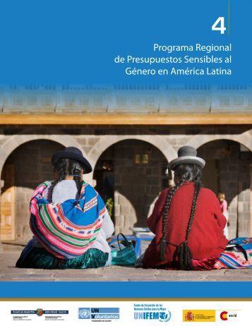 Programa Regional de Presupuestos Sensibles al Género en ...