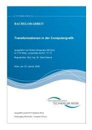 Transformationen in der Computergrafik - Robert Wimmer, BSc