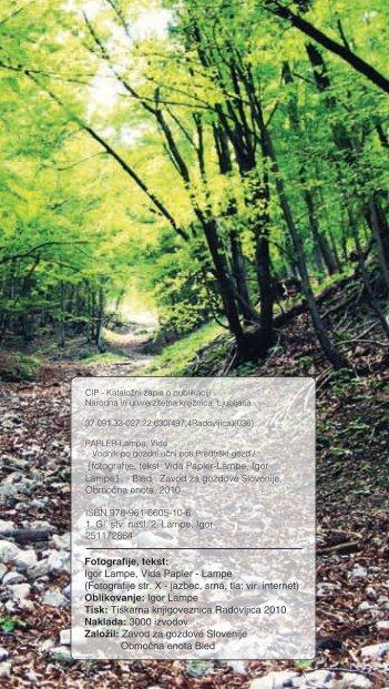 Igor Lampe, Vida Papler - Zavod za gozdove Slovenije