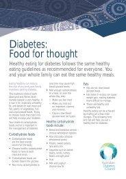 Diabetes: Food for thought - Australian Diabetes Council