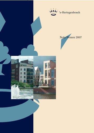 Nota wonen 2007 - Meer Woningen Voor Ouderen