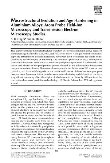 Microstructural Evolution and Age Hardening in Aluminium Alloys ...
