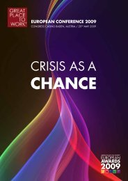 crisis as a chance - Great Place to Work Institute