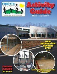 2012 Spring-Summer Activity Guide - Forsyth County Government