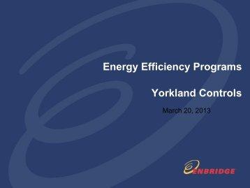 Energy Efficiency Programs Yorkland Controls
