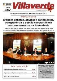 Destinos e Ações, atividade parlamentar, gestão ... - Adão Villaverde