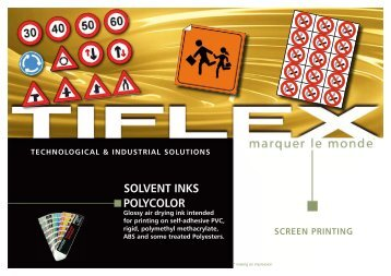 SOLvENT INkS POLyCOLOR - Tiflex