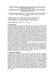 Avaliação reológica de soluções aquosas de quitosana ... - SOVERGS