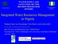 Integrated Water Resources Management in Nigeria ... - Hydrology.nl