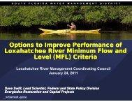 Improving Minimum Flow Levels - Loxahatchee River District