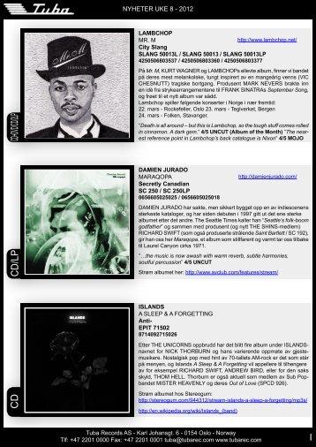 CD/Lp CD+DVD/CD/2Lp CD - Tuba