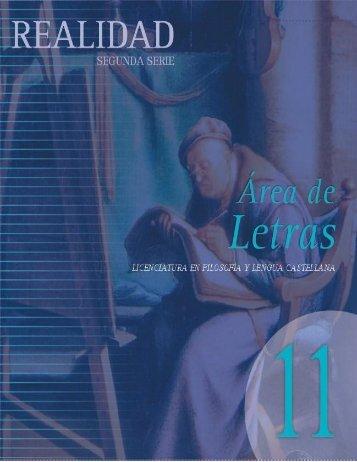 Área de Letras - Facultad de Filosofía - Universidad Santo Tomás