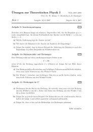 ¨Ubungen zur Theoretischen Physik I - Theoretische Physik 1