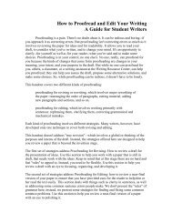 How to Proofread and Edit Your Writing A Guide for ... - Troy University