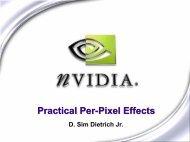 Practical Per-Pixel Effects - NVIDIA Developer Zone