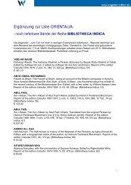 Zeller Reprints - Bibliotheca Indica