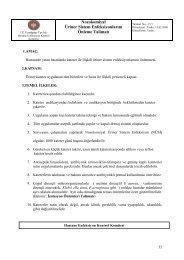 15/1-Nozokomiyal Üriner Sistem Enfeksiyonlarını Önleme Talimatı