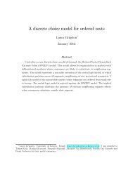 A discrete choice model for ordered nests