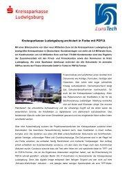 Kreissparkasse Ludwigsburg archiviert in Farbe mit PDF/A
