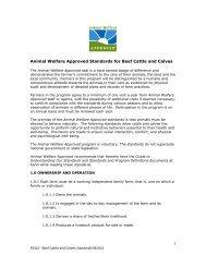 PDF Version of Beef Cattle and Calves Standards - Animal Welfare ...