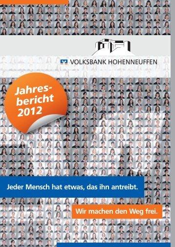 Jahresbericht 2012 im PDF-Format - Volksbank Hohenneuffen eG