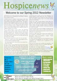 Spring 2012 Newsletter - Hospice Isle of Man