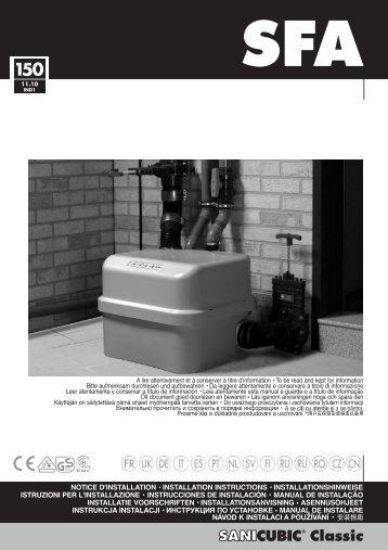 Handleiding sanicubic classic - Warmteservice