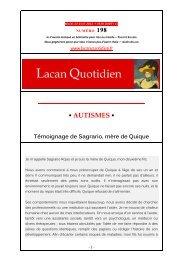 AUTISMES - Lacan Quotidien