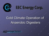 Cold Climate Operation of Anaerobic Digesters