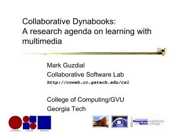 Collaborative Dynabooks: A research agenda on learning with ...