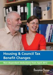 Our leaflet on the Housing Benefit Changes - Hounslow Homes