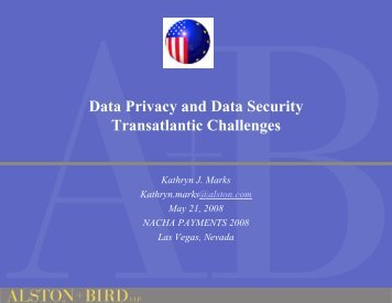 Data Privacy and Data Security Transatlantic Challenges
