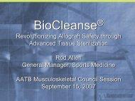 Sterile - American Association of Tissue Banks