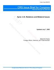 Syria: U.S. Relations and Bilateral Issues - PARDS