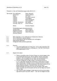 Protokoll nr 2 fört vid Föräldraföreningens möte 2010-10-13 ...